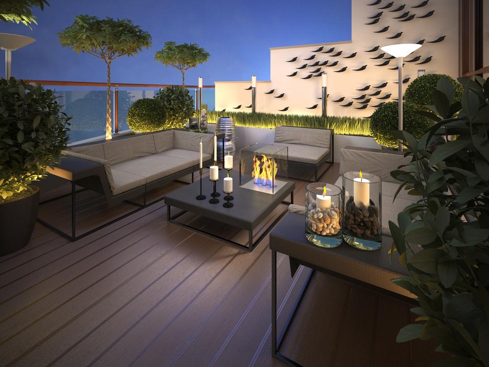 Monaco roof garden