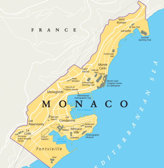 Districts Of France Map.Monaco Districts Which One Is Best For Your Investment La Costa